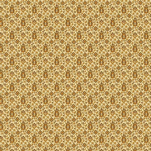 SMALL BLACK & TAN DAMASK PATTERN