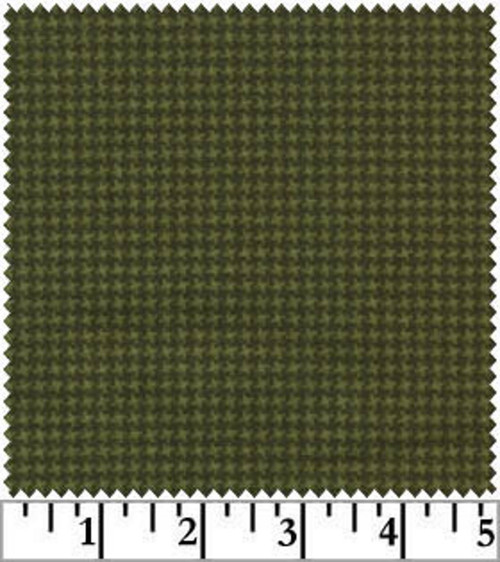 GREEN ON GREEN TINY HOUNDSTOOTH WOOLIES FLANNEL