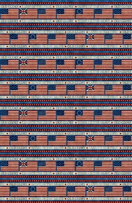 ASSORTED FLAG STRIPE FABRIC