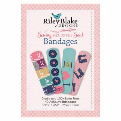 Bandages - Sewing Mends the Soul - 40 Per Box - Latex Free - ST-14754