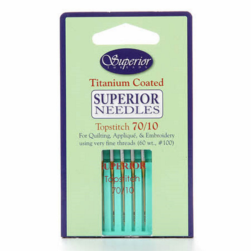 SUPERIOR SEWING MACHINE NEEDLES - 5 PK - Topstitch 70/10