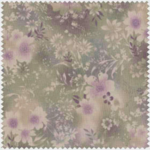 LAVENDER BACKGROUND WITH VINES, LEAVES, & FLOWERS