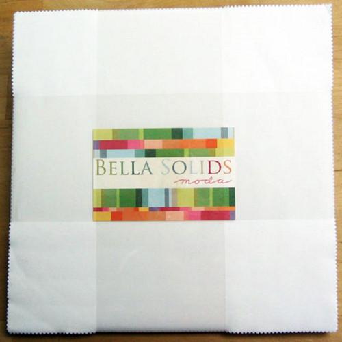 "BELLA SOLIDS WHITE 10"" x 10"" SQUARES (LAYER CAKE)"