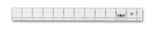 """FROSTED ACRYLIC RULER - 1"""" X 12"""""""