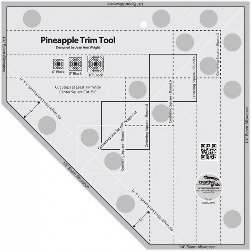 PINEAPPLE TRIM TOOL NON-SLIP RULER