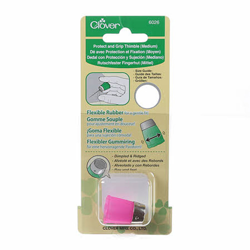 PROTECT AND GRIP THIMBLE - Medium - Rubber with Metal Tip - 6026