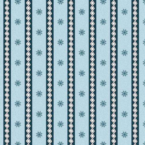 LITTLE STRIPES ON BLUE FLANNEL