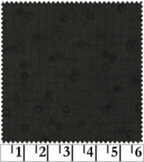 CHARCOAL SCATTERED BUTTONS FABRIC