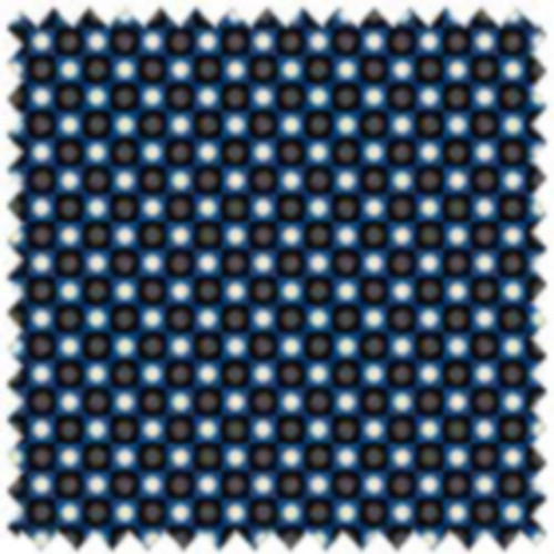 BLACK & BLUE DOTTED CHECKBOARD FABRIC