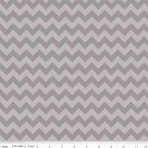 SMALL GRAY TONE ON TONE CHEVRONS FABRIC