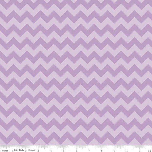 SMALL LAVENDER TONE ON TONE CHEVRONS FABRIC