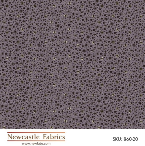 BLACK & WHITE BOXED DOTS ON LIGHT PURPLE FABRIC
