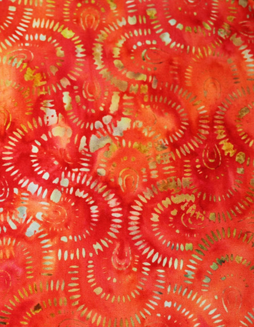 APRIL IN PARIS-ORANGE HAND MADE BATIK FABRIC