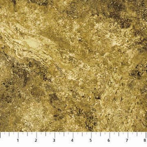 STONEHENGE GOLD LEAF MARBLED SPLASH FABRIC
