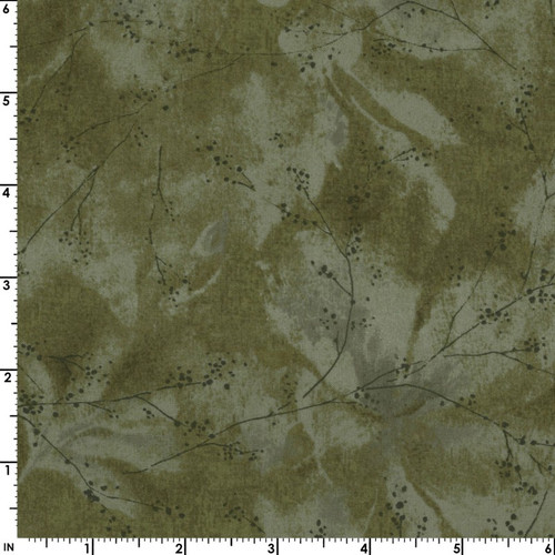GREEN FLORAL TEXTURE FABRIC