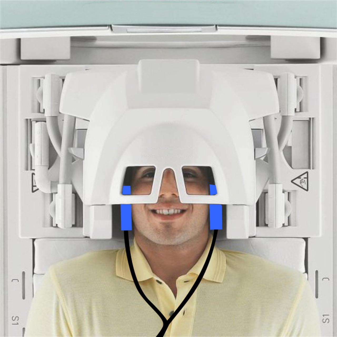 Acoustic Headphone Inside Brain Coil for MRI Music Systems