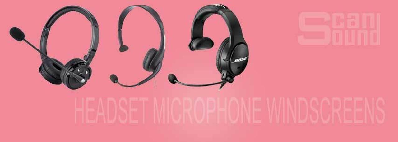 Headset Microphone Windscreens