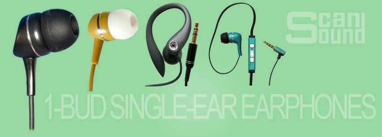 1-BUD Single-Ear Stereo Earphones