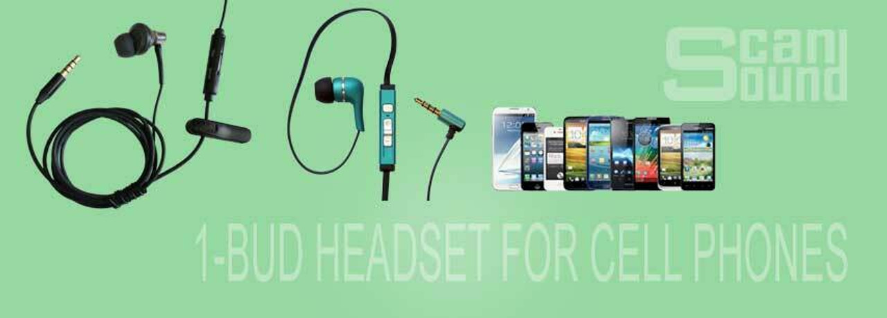 1-BUD Headset for Cell Phones