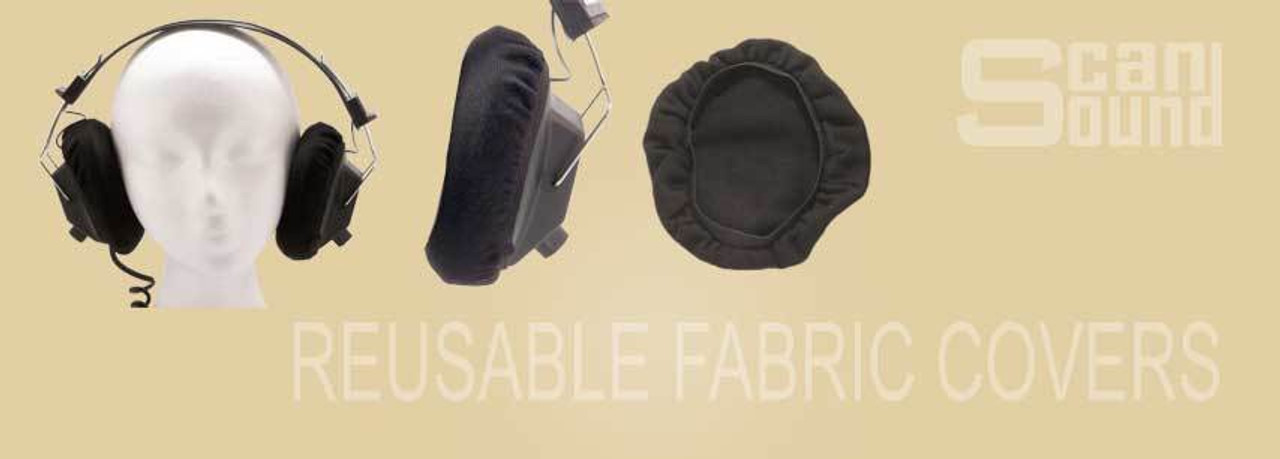 Reusable Fabric Headphone Covers
