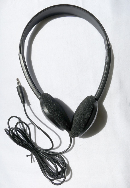 Economical stereo headphones with a 6-foot Cord and Straight 3.5mm Stereo Plug. Comfortable to wear and economically priced