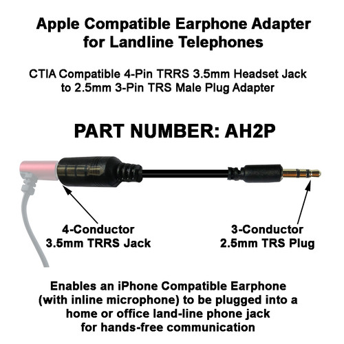 Adapt Apple Earphone to Landline Phones