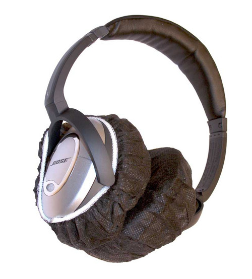 Large Size Black Headphone Covers on Headphones