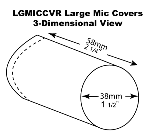 Large Microphone Cover Dimensions
