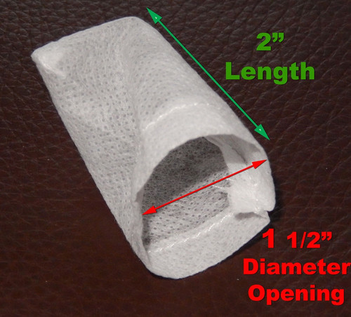 2 Inches Long with 1 ½ inch Diameter Opening