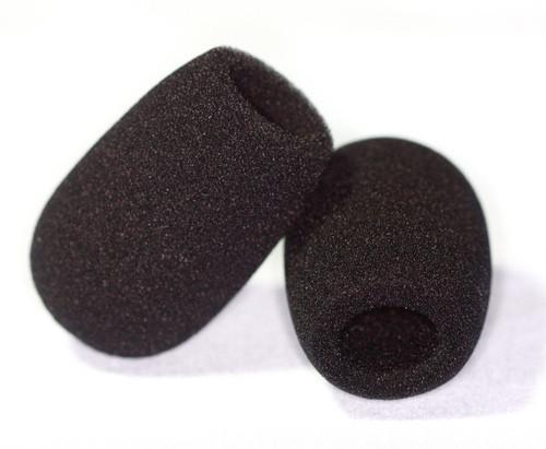 HM-1648 dense Black Foam Windscreens block wnd noise in high wind (sold in bags of 2)