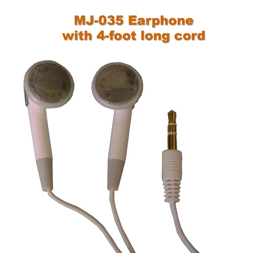 Low-Price Stereo Earphones with 4-Foot Long Cord