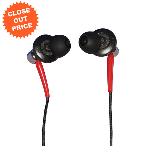 Front of Stereo Earpieces with Close Out Pricing