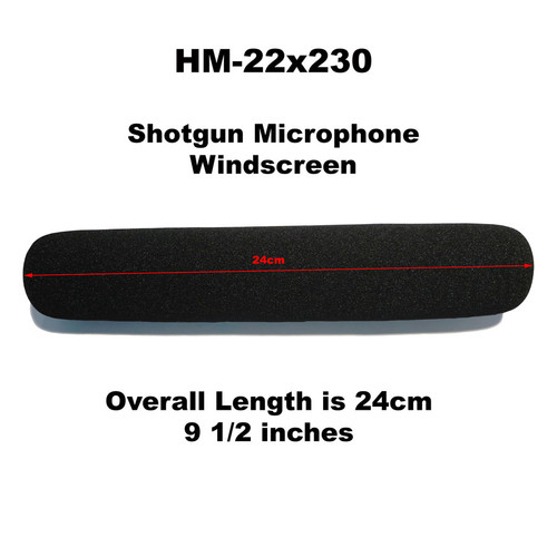 HM-22x230 Shotgun Microphone Windscreen