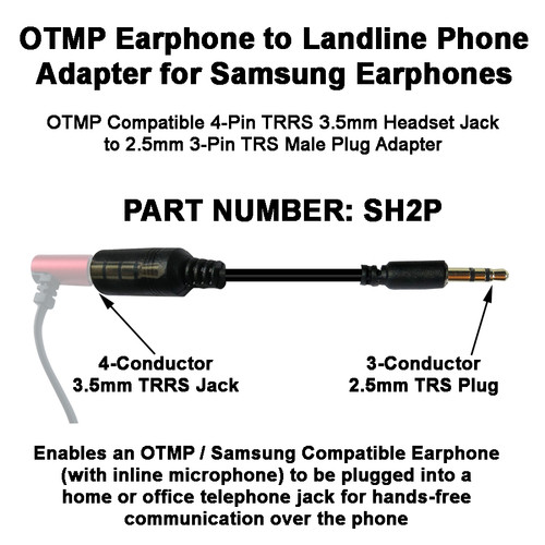 OTMP Samsung Earphone to Phone Adapter