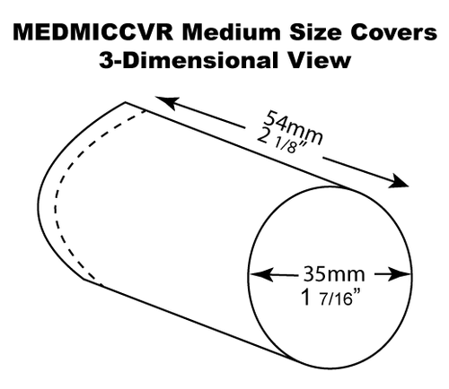 Medium Size Microphone Cover Dimensions