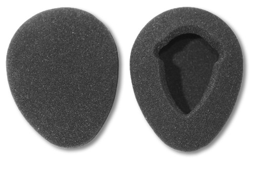 80mm foam earpads, front and back
