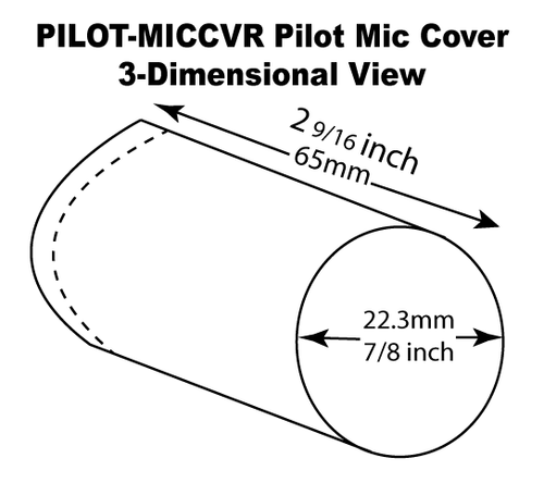Pilot Microphone Cover Dimensions