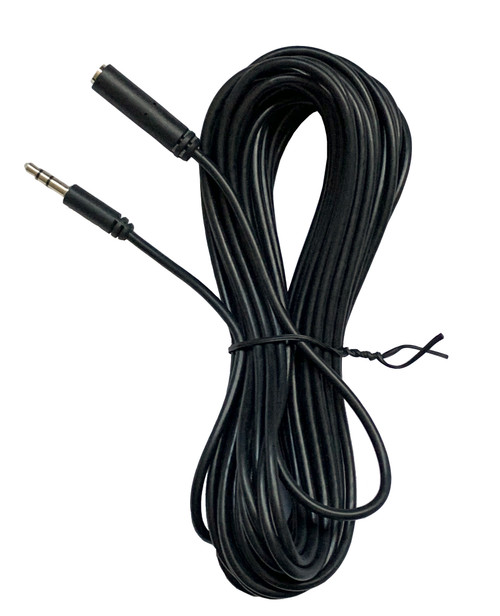 3.5mm Male-to-Female audio extension cord, 25-foot long