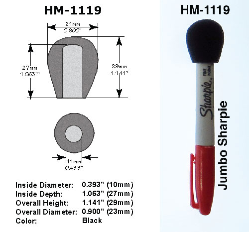 HM-1119 Specifications with Sharpie