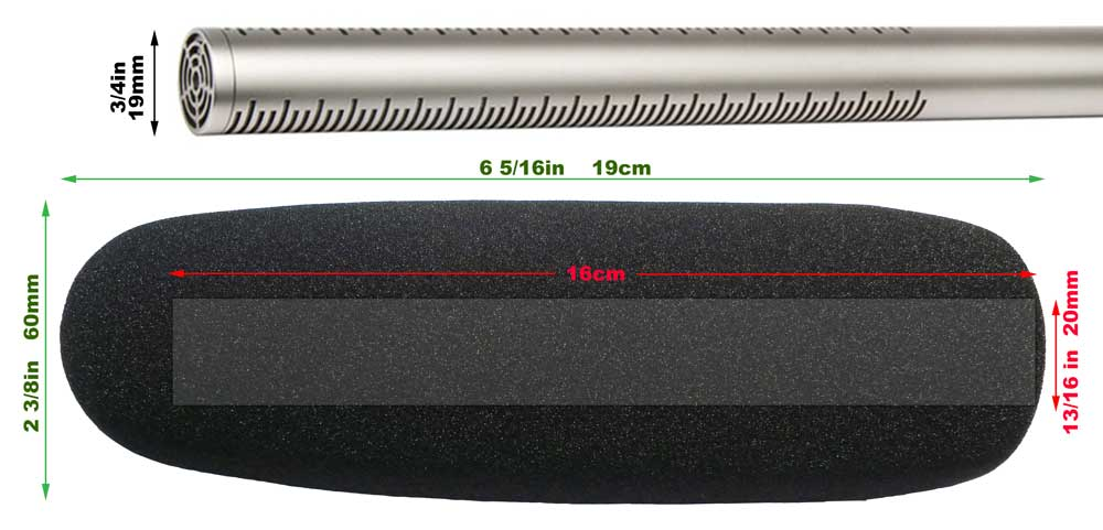 Video Shotgun Microphone Dimensions