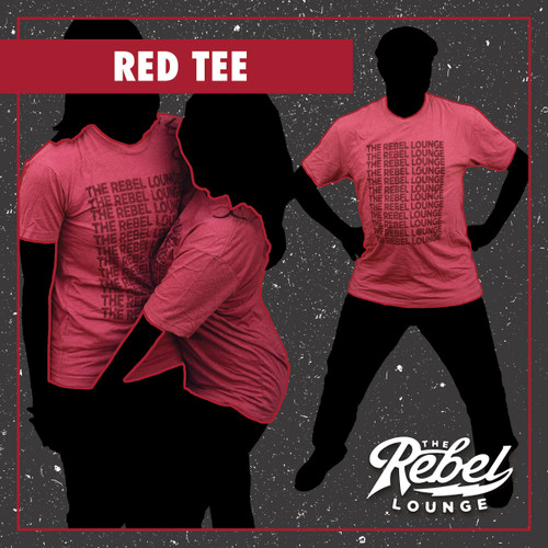 Guys'/Unisex Heather Red Cracked/Repetition The Rebel Lounge Shirt