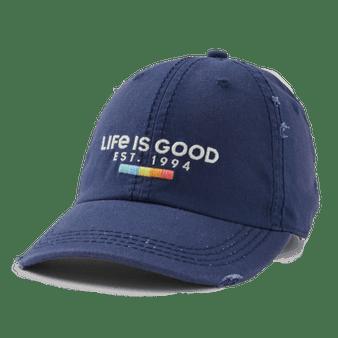 Life is Good Rainbow Blocks Hat