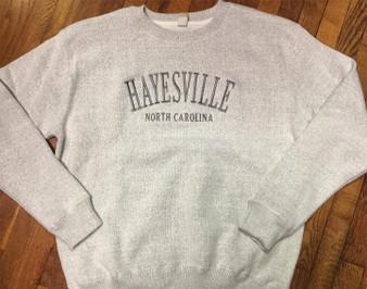 Hayesville, NC and Lake Chatuge NC-GA Crew Sweatshirt