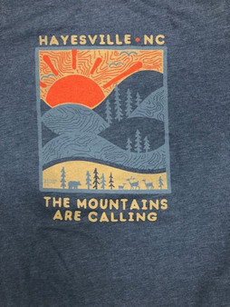 Hayesville, NC The Mountains are Calling Long Sleeve Tee