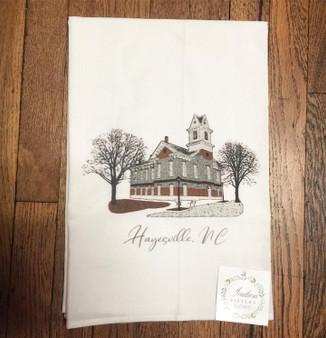 Hayesville, NC tea towel