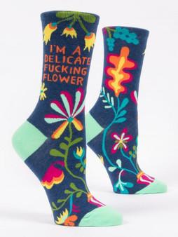 Delicate F*&$ing Flower Socks