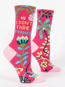 Hi I Don't Care Thanks Socks