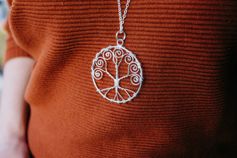 Silver Tree of Life by Anju