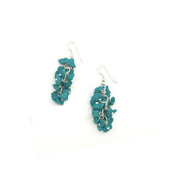 Turquoise Spirit Stone Earrings by Anju