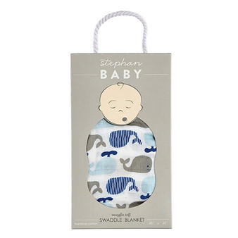 "Stephan Baby  swaddle blanket""Whale"""